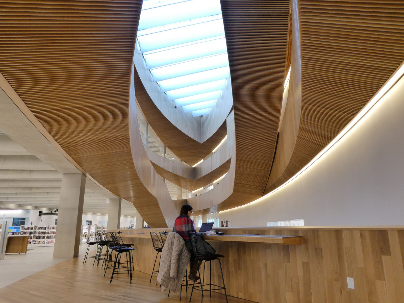The modern architectural splendour of Calgary Library, Canada.